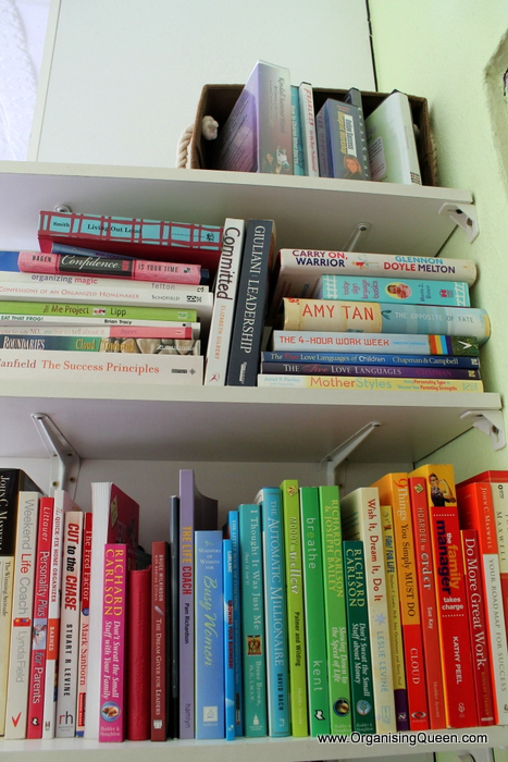 Rainbow Bookshelves And Using Vertical Space