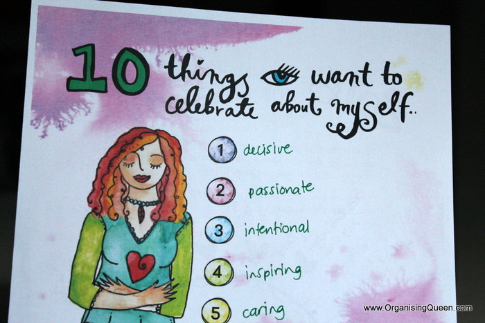 Things to celebrate about you | www.OrganisingQueen.com